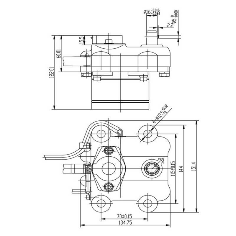 KOMATSU PC200-5 THROTTLE MOTOR 7824-30-1600
