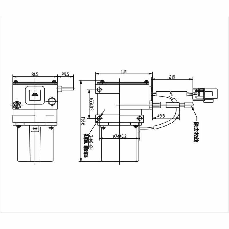 105-0092 e320 motor