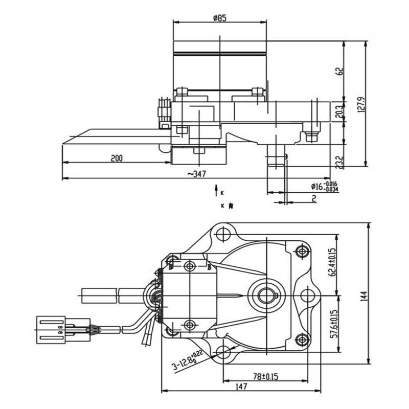 komatsu pc200-7 throttle motor 7834-41-2000